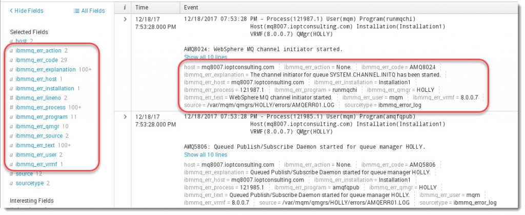 Parsing MQ error logs in Splunk | Store and Forward